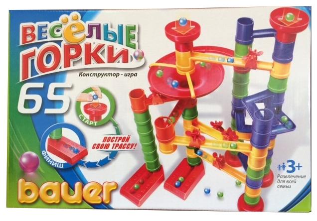 Конструктор «Весёлые горки», 65 элементов - Конструкторы Bauer Кроха (для малышей), артикул: 127408