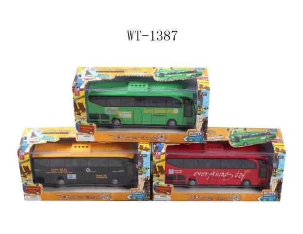Купить Металлический автобус, инерционный, свет и звук, 3 вида, JUNFA TOYS