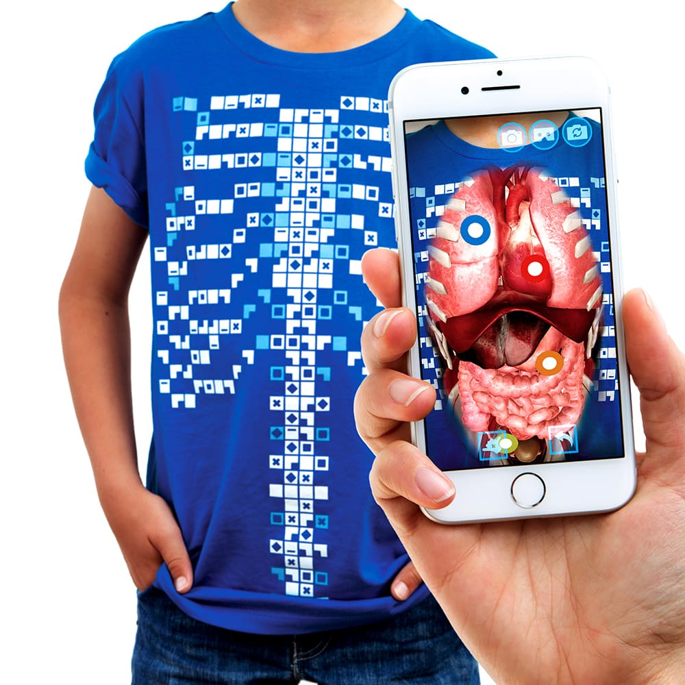 Футболка дополненной реальности Virtuali-Tee, детская, размер XL, голубой