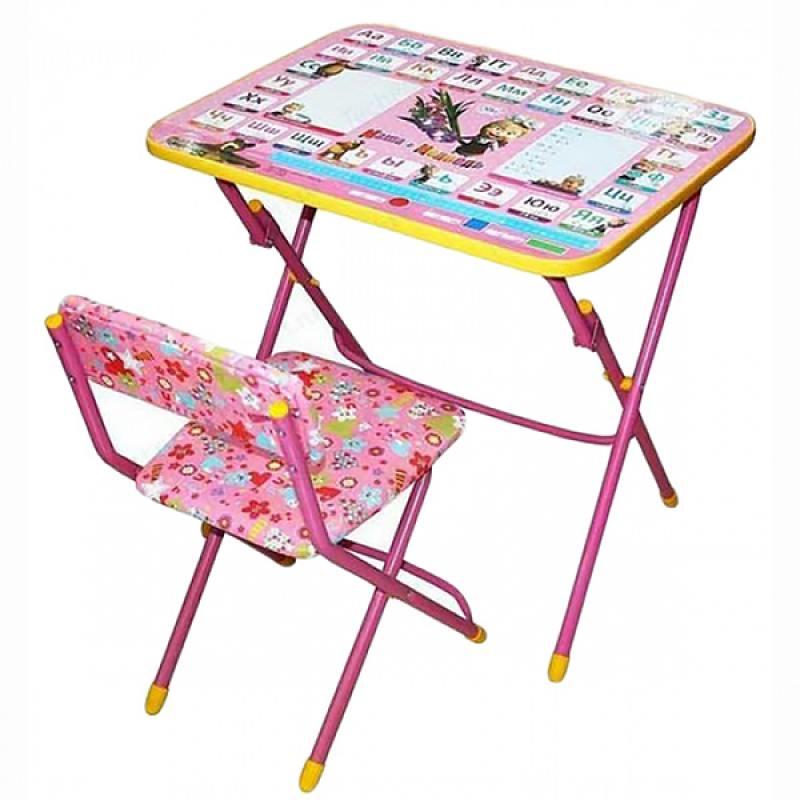 Набор детской мебели - Азбука 3 из серии Маша и Медведь, цвет розовый