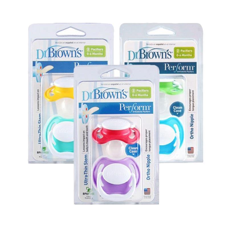 Купить Пустышки Dr Brown's силиконовые ортодонтические, 0-6 месяцев, 2 штуки, Dr. Brown's