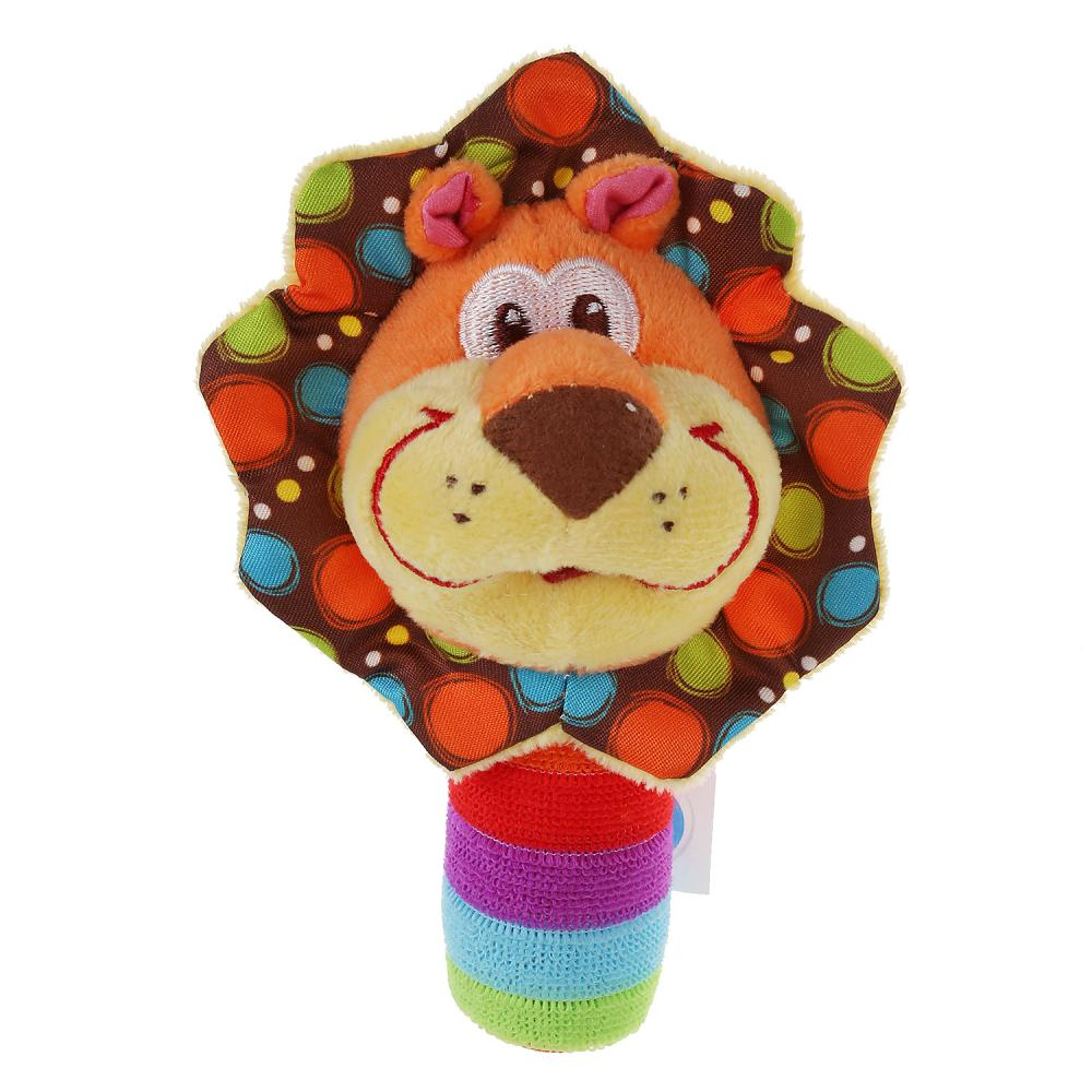 Купить Текстильная игрушка погремушка-пищалка - Лев, Умка