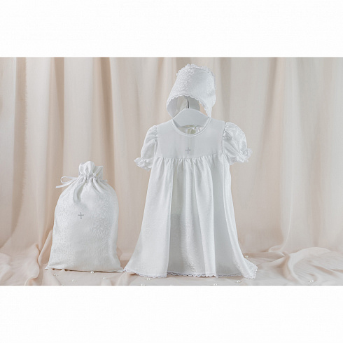 Крестильный набор для девочки – Муза, 3 предмета, 6-12 месяцев