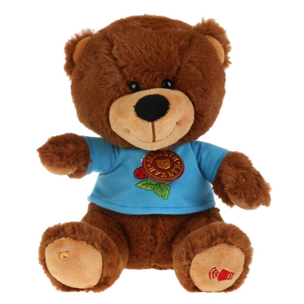 Мягкая игрушка - Мишка 25 см, стихи и песенки А. Барто, Мульти-Пульти  - купить со скидкой