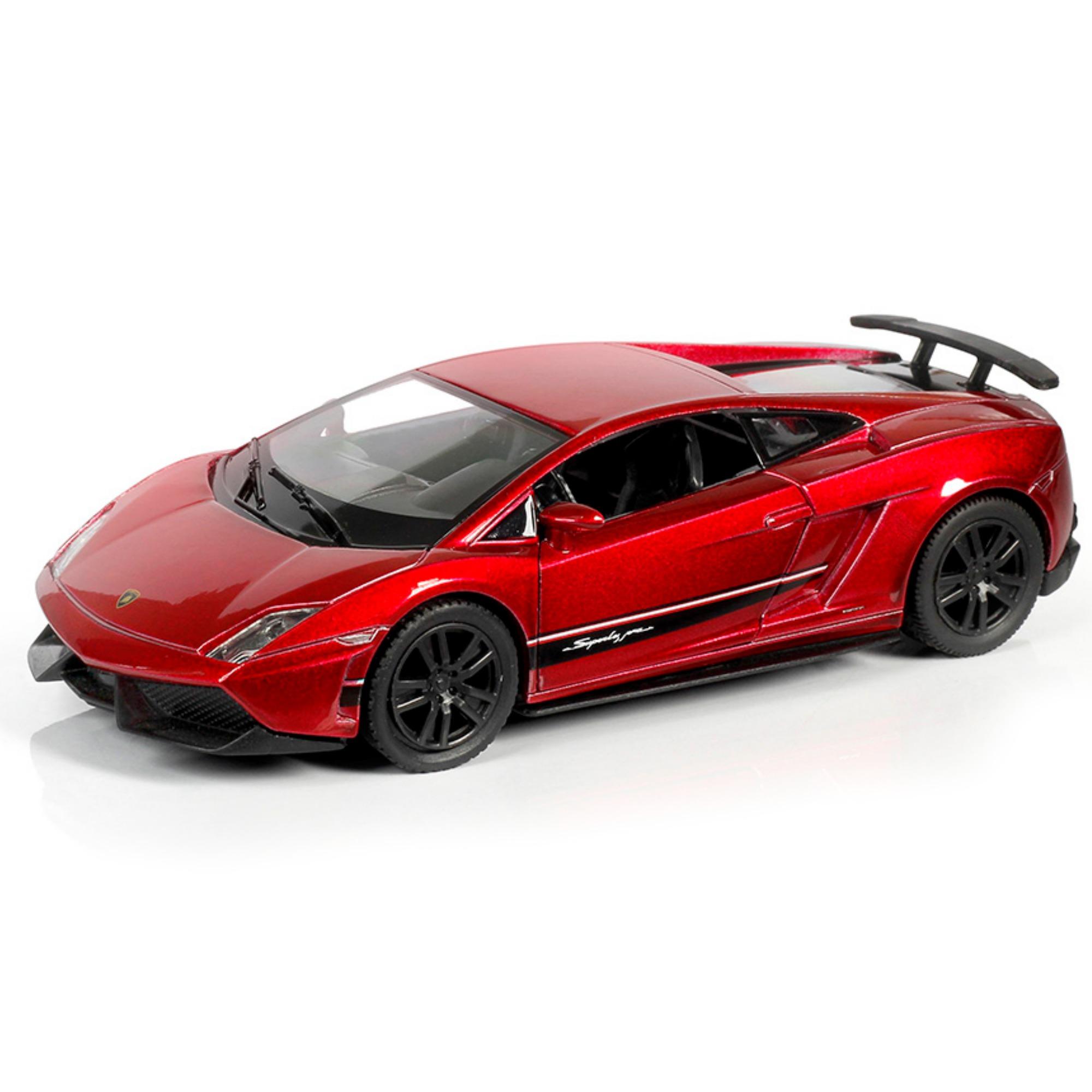 Металлическая инерционная машина RMZ City - Lamborghini Gallardo Superleggera, 1:32, красный металликLamborghini<br>Металлическая инерционная машина RMZ City - Lamborghini Gallardo Superleggera, 1:32, красный металлик<br>