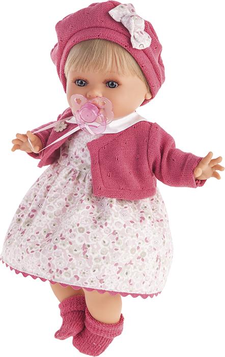 Кукла Кристиана в малиновом, плачет, 30 см.Куклы Антонио Хуан (Antonio Juan Munecas)<br>Кукла Кристиана в малиновом, плачет, 30 см.<br>