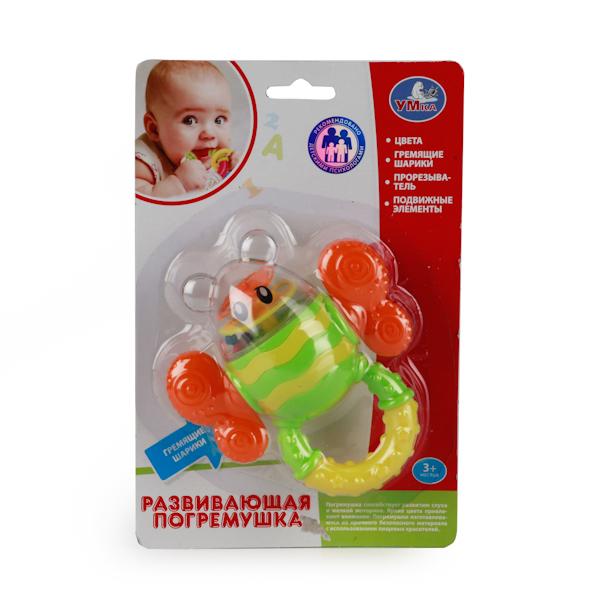 Погремушка-прорезыватель - ШмельДетские погремушки и подвесные игрушки на кроватку<br>Погремушка-прорезыватель - Шмель<br>
