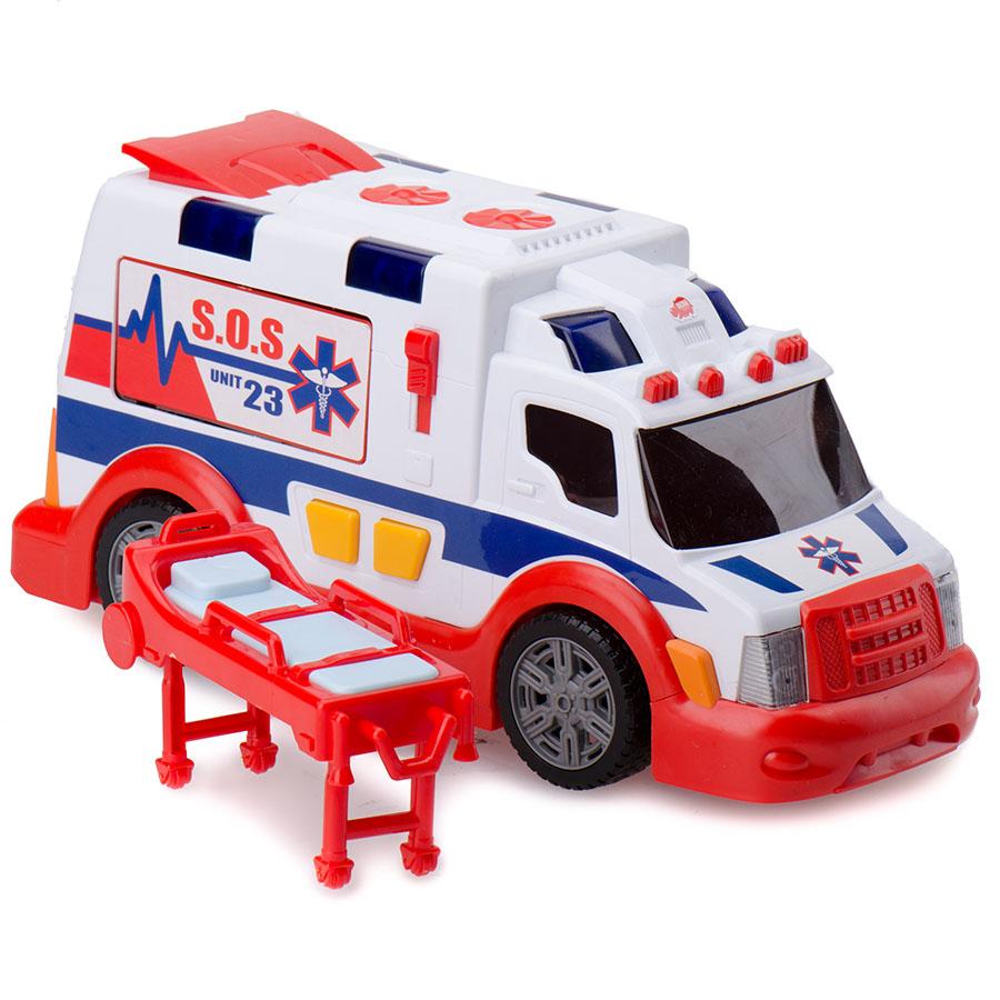 Машина скорой помощи, звук, свет, свободный ход, 33 см.Скорая помощь<br>Машина скорой помощи, звук, свет, свободный ход, 33 см.<br>