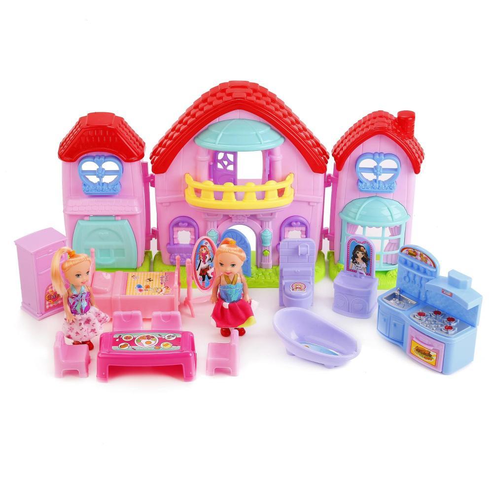 Дом для кукол с мебелью и фигурками – Dream Hause, свет, звук