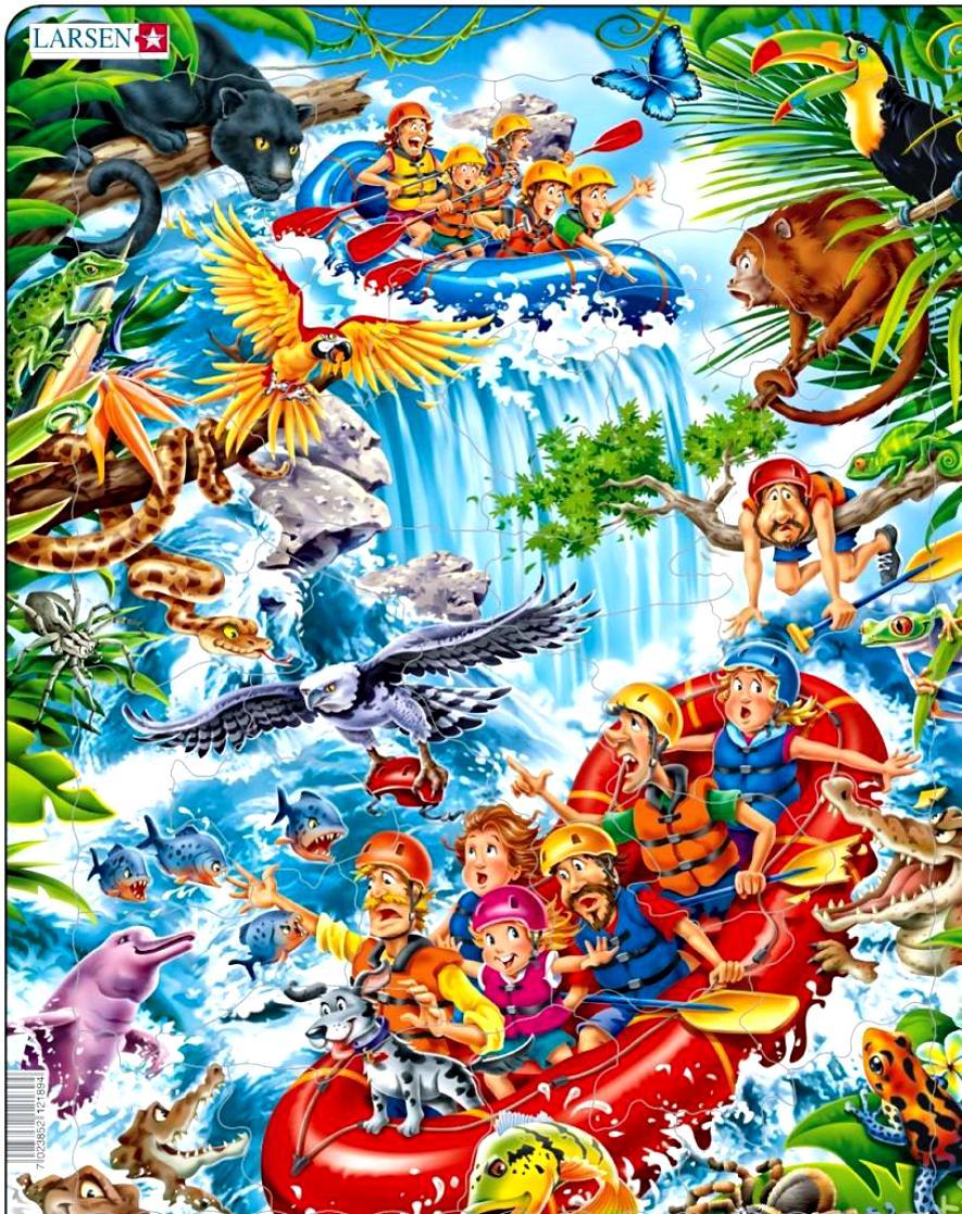 Купить Пазл – В джунглях Амазонки, 35 деталей, Larsen