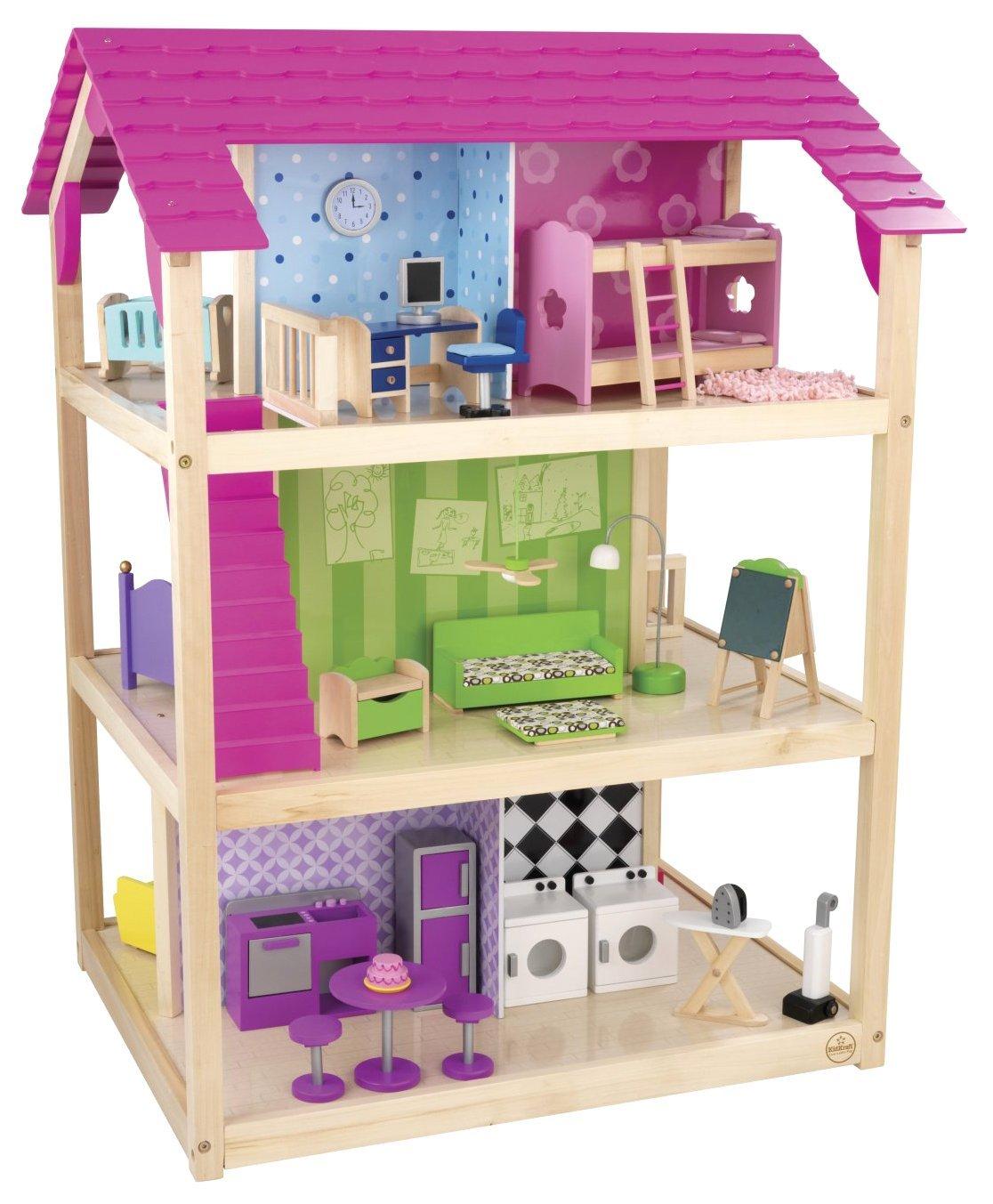 Купить Кукольный домик для Барби - Самый роскошный, с мебелью 45 элементов, на колесиках, KidKraft
