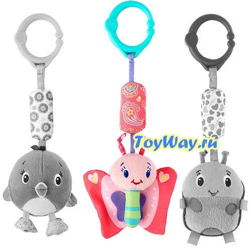 Развивающая игрушка  Звонкий дружок , Бабочка - Детские погремушки и подвесные игрушки на кроватку, артикул: 97348