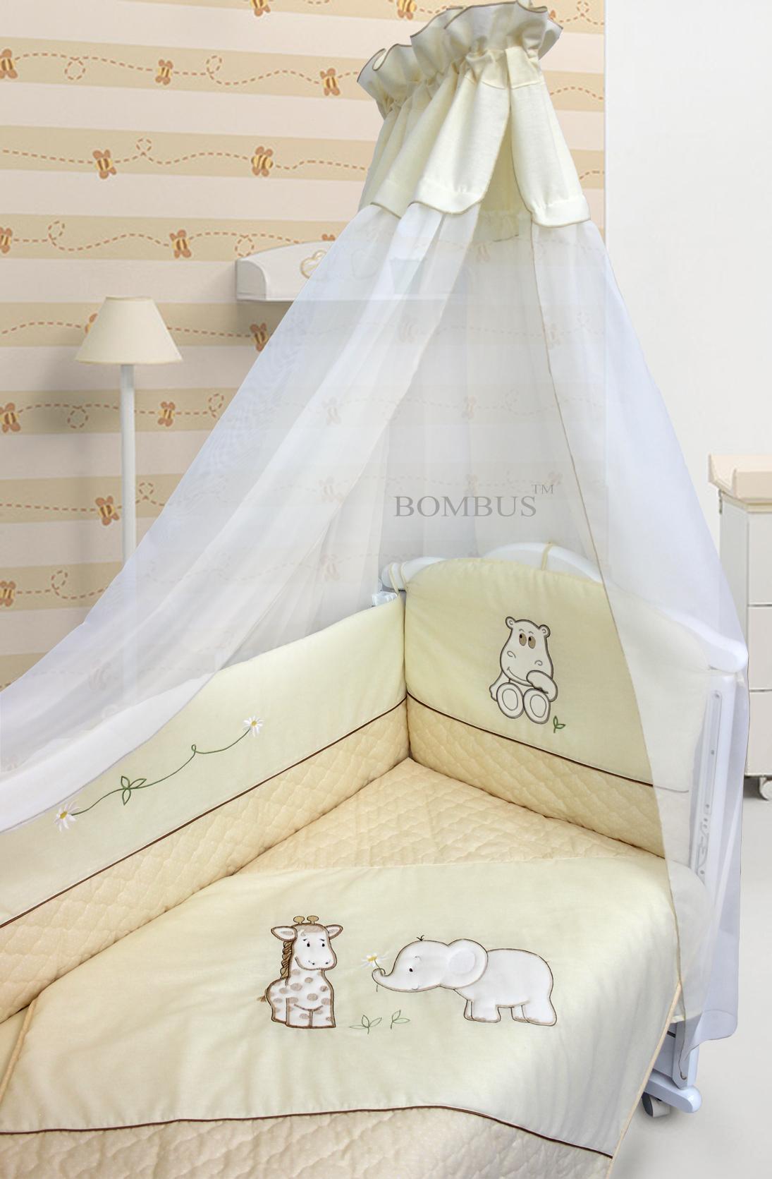 Комплект в кроватку - Сафари, 6 предметовДетское постельное белье<br>Комплект в кроватку - Сафари, 6 предметов<br>