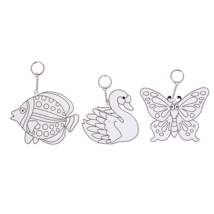 Витражи-Брелоки, 3 шт: рыбка, лебедь, бабочкаВитраж<br>Витражи-Брелоки, 3 шт: рыбка, лебедь, бабочка<br>