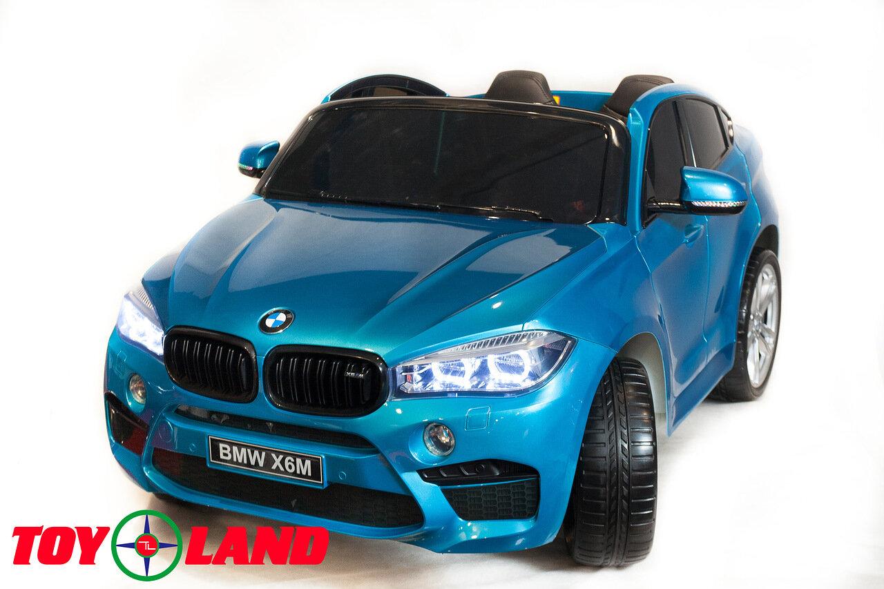 Купить Электромобиль ToyLand BMW X6 mini синего цвета