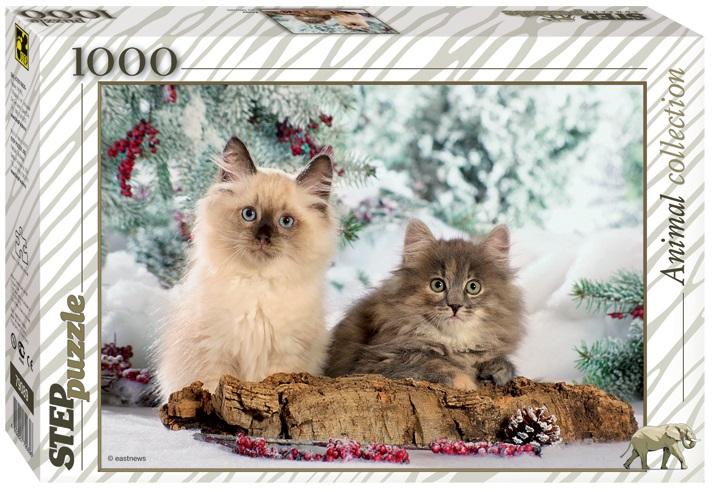 Пазл Кошки, 1000 элементовПазлы 1000 элементов<br>Пазл Кошки, 1000 элементов<br>