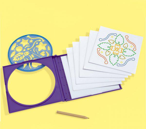 Набор для рисования с трафаретами, 4 видаНаборы для рисования<br>Набор для рисования с трафаретами, 4 вида<br>