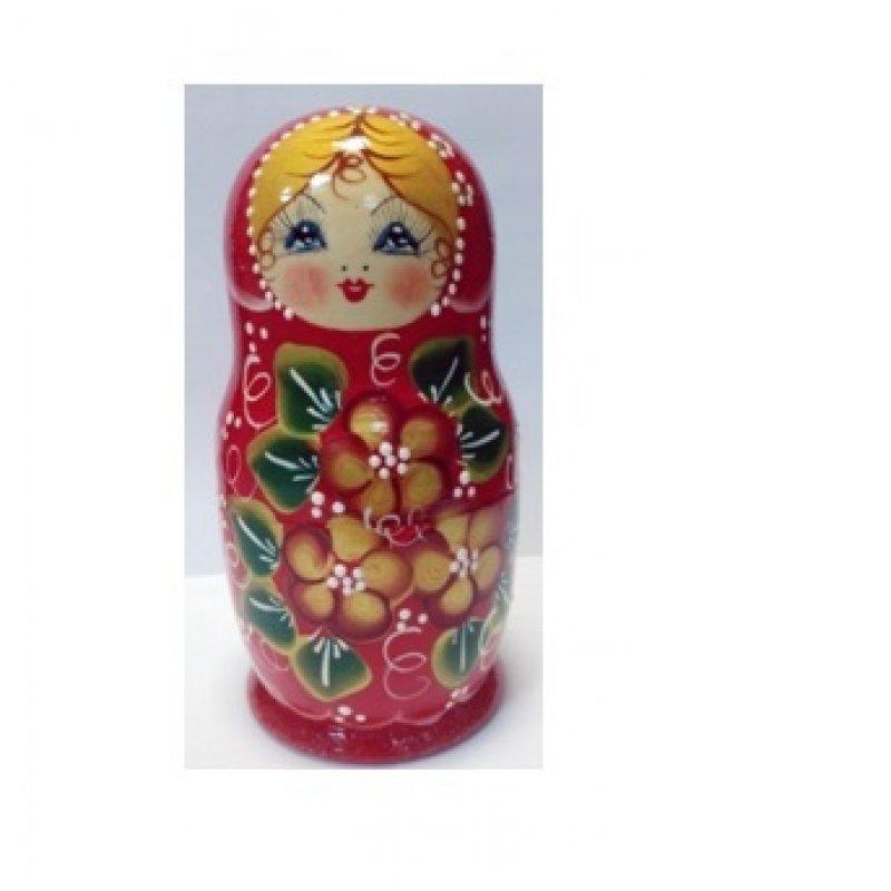 Купить Матрешка 5 в 1 большая 17 см. с дизайном Цветы, Эскиз 08, Полевые цветы, Матрёшка