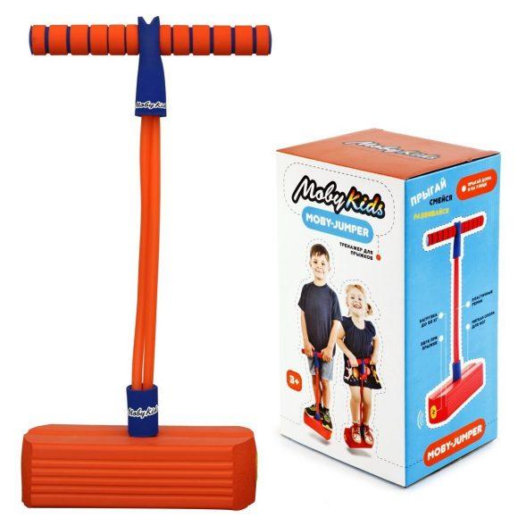 Купить Тренажер для прыжков со звуком MobyJumper, оранжевый, Moby Kids