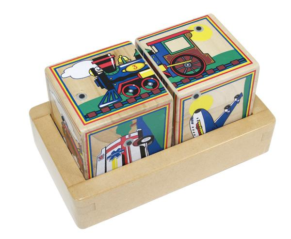 Купить Кубики-пазл Транспорт , со звуком, Melissa&Doug
