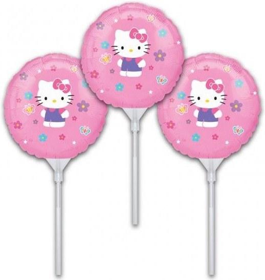 Набор из 3 шариков - Надуй сам. Hello Kitty, 23 смВоздушные шары<br>Набор из 3 шариков - Надуй сам. Hello Kitty, 23 см<br>