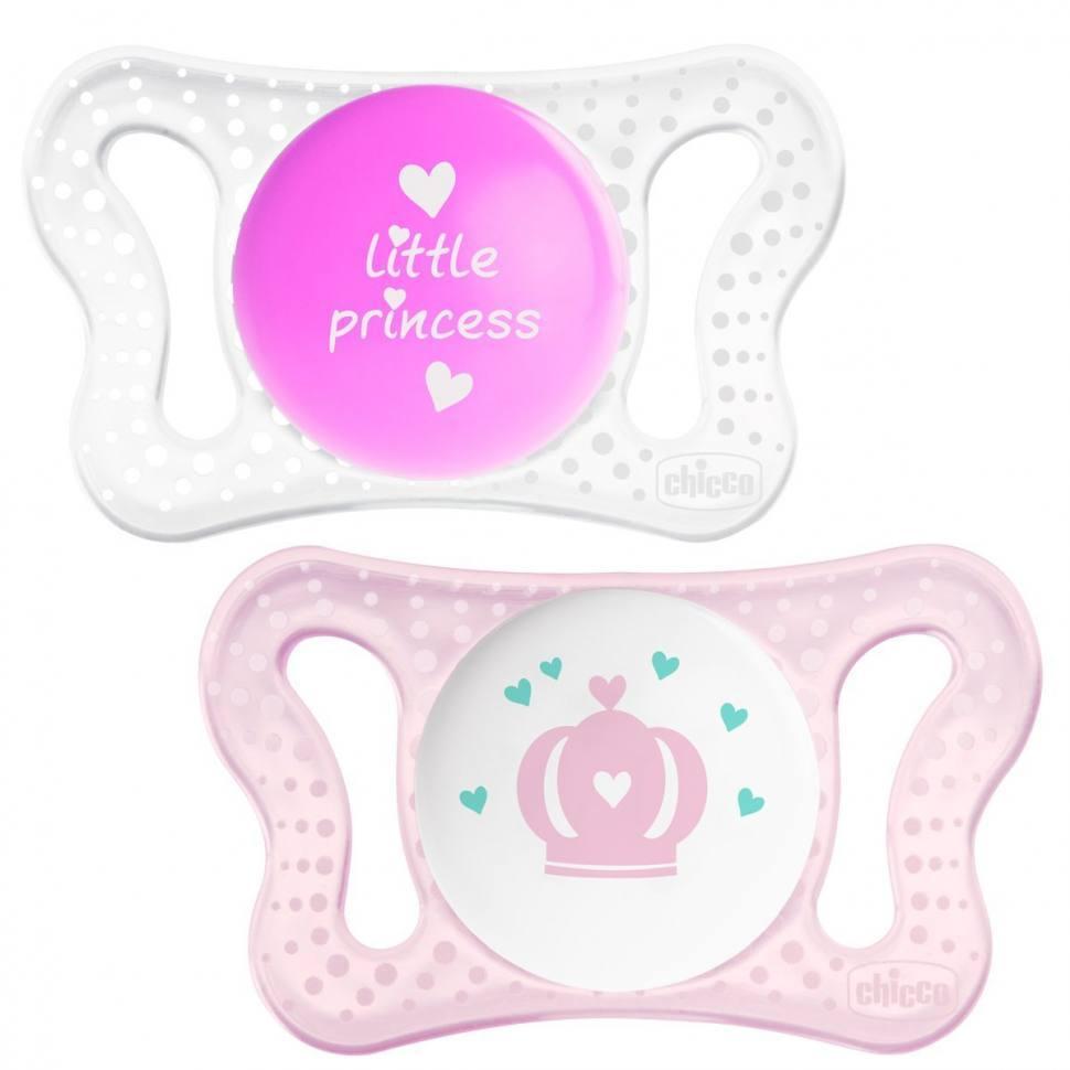Пустышка силиконовая Micro - Для принцессы, 2 шт., 0-2 мес., силикон фото