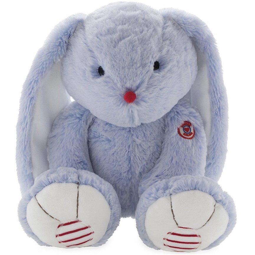 Купить Мягкая игрушка Руж – Заяц. Голубой, 19 см, Kaloo