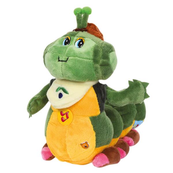 Озвученная мягкая игрушка - Гусеница ПрогульщикГоворящие игрушки<br>Озвученная мягкая игрушка - Гусеница Прогульщик<br>