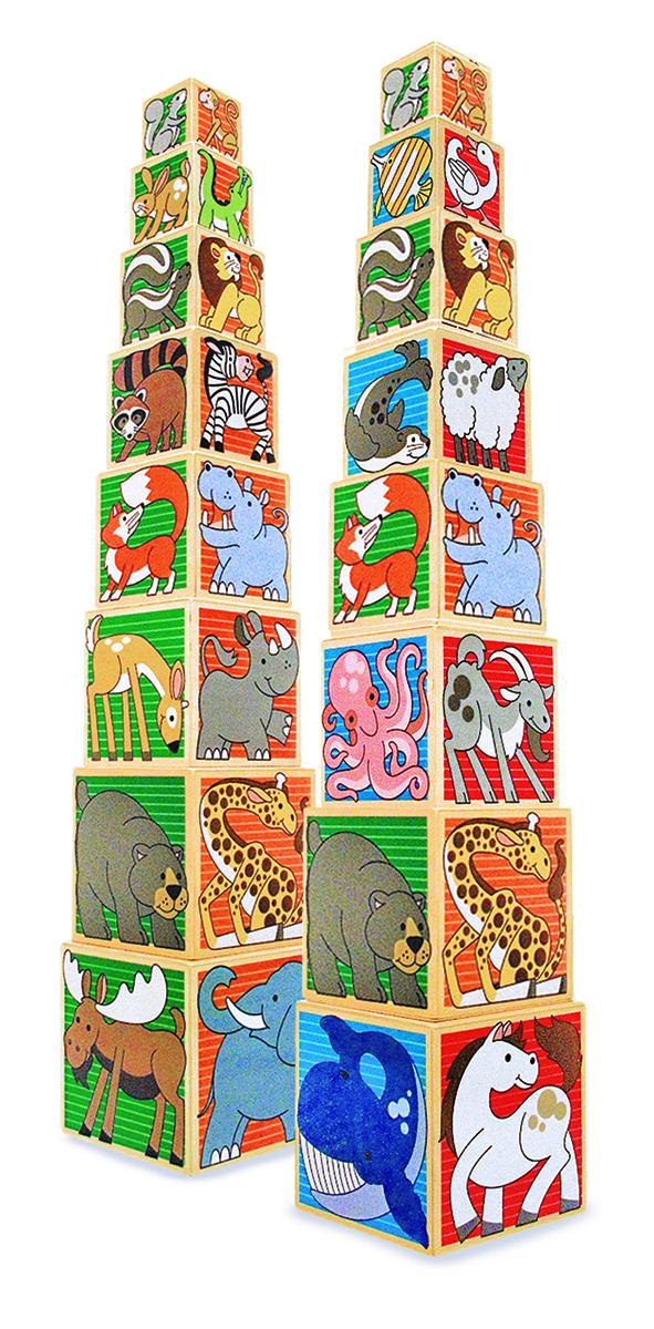 Деревянные кубики ЖивотныеКубики<br>Деревянные кубики Животные<br>
