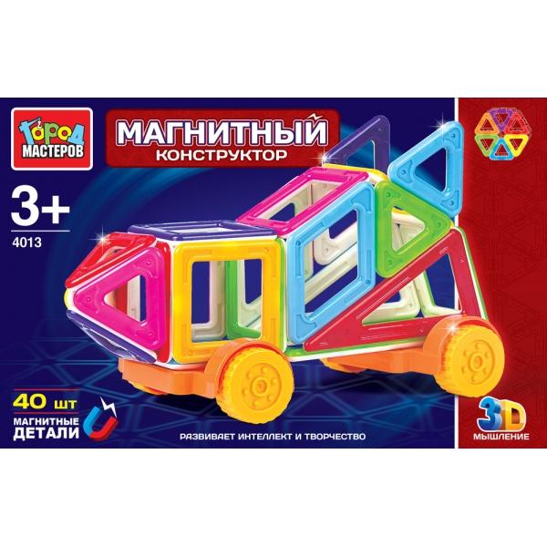 Купить Магнитный конструктор Город Мастеров, 40 мини-детали, Город мастеров