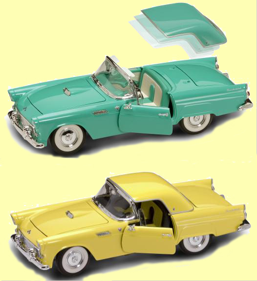Коллекционный автомобиль 1955 года - Форд Thunderbird, масштаб 1/18 от Toyway