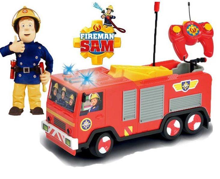 Пожарная машина на радиоуправлении из серии «Пожарный Сэм», с 2-х канальным пультом, светом, 1:24Игрушки из рекламы<br>Пожарная машина на радиоуправлении из серии «Пожарный Сэм», с 2-х канальным пультом, светом, 1:24<br>