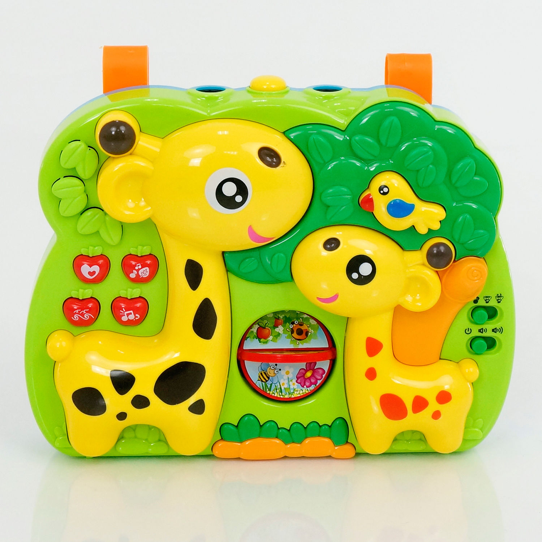 Музыкальная игрушка-проектор 2 в 1 – Жирафы - Музыкальные ночники и проекторы, артикул: 166267