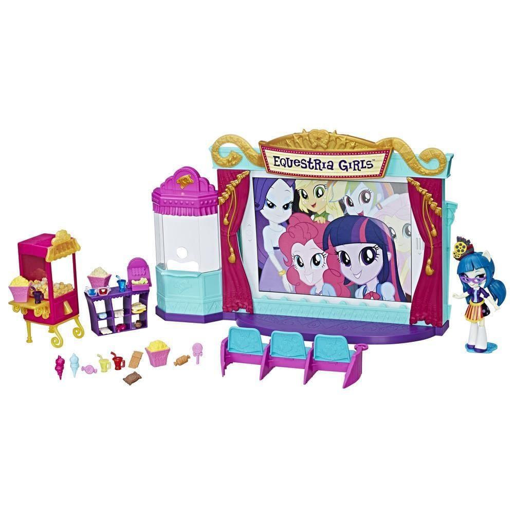 Игровой набор мини-кукол Кинотеатр из серии My Little Pony Equestria GirlsКуклы Девушки Эквестрии (Equestria Girls)<br>Игровой набор мини-кукол Кинотеатр из серии My Little Pony Equestria Girls<br>