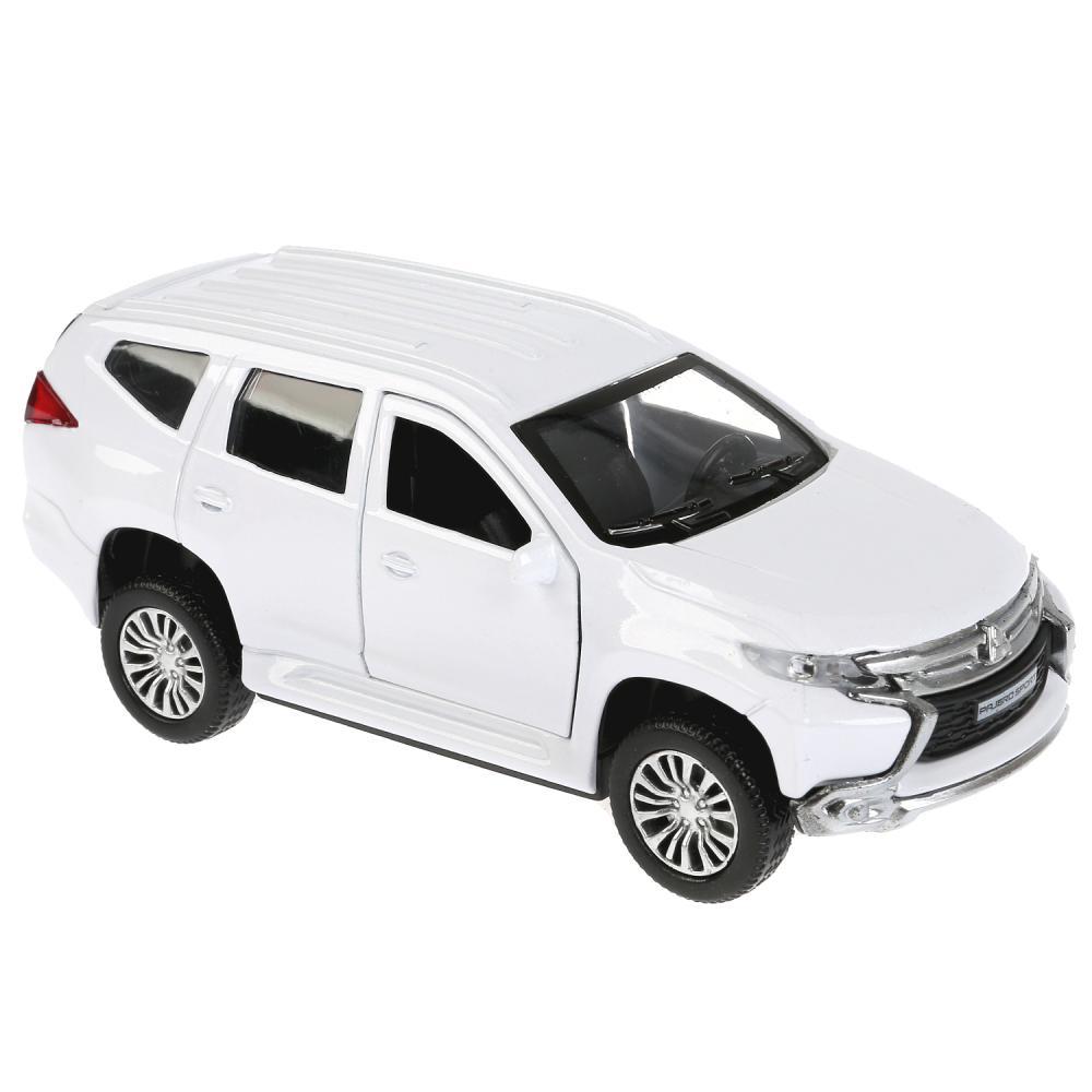 Купить Машина металлическая Mitsubishi Pajero Sport 12 см, открываются двери, инерционная, цвет - белый, Технопарк
