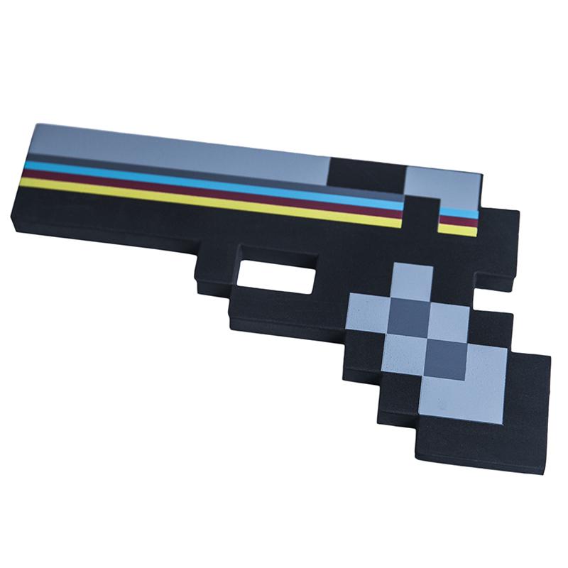 Купить Пистолет 8Бит Черный пиксельный, 22 см., Pixel Crew