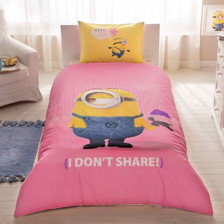 Комплект постельного белья Ranforce - Minions Cupcake, 1,5 спальныйДетское постельное белье<br>Комплект постельного белья Ranforce - Minions Cupcake, 1,5 спальный<br>