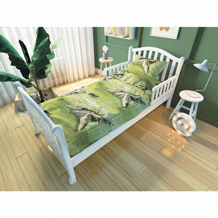 Комплект постельного белья для подростковой кровати Nuovita - Стражи неба, зеленый фото