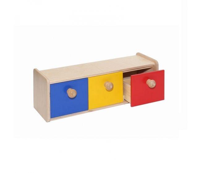 Развивающий шкафчик с тремя ящичкамиРазвивающие центры<br>Развивающий шкафчик с тремя ящичками<br>