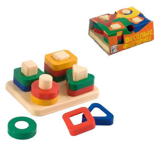 Игрушка дидактическая - Веселые фигуркиСортеры, пирамидки<br>Игрушка дидактическая - Веселые фигурки<br>