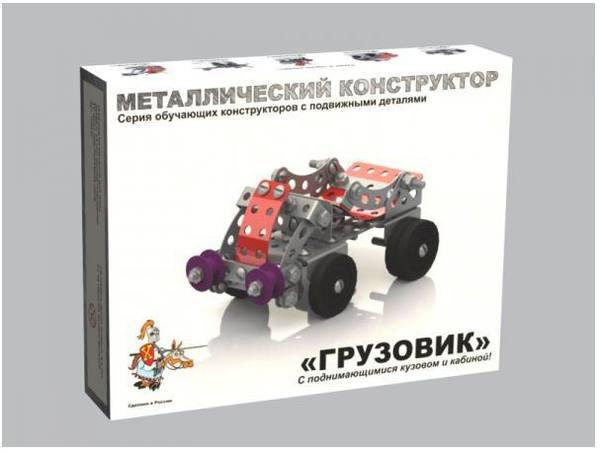 Металлический конструктор – Грузовик с подвижными деталямиМеталлические конструкторы<br>Металлический конструктор – Грузовик с подвижными деталями<br>