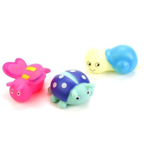 Игрушки для ванной – Насекомые, 3 фигурки в сеткеРезиновые игрушки<br>Игрушки для ванной – Насекомые, 3 фигурки в сетке<br>