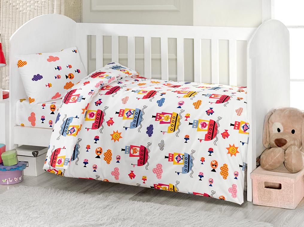 Комплект из 4 предметов ТМ Ups Pups - ПароходДетское постельное белье<br>Комплект из 4 предметов ТМ Ups Pups - Пароход<br>