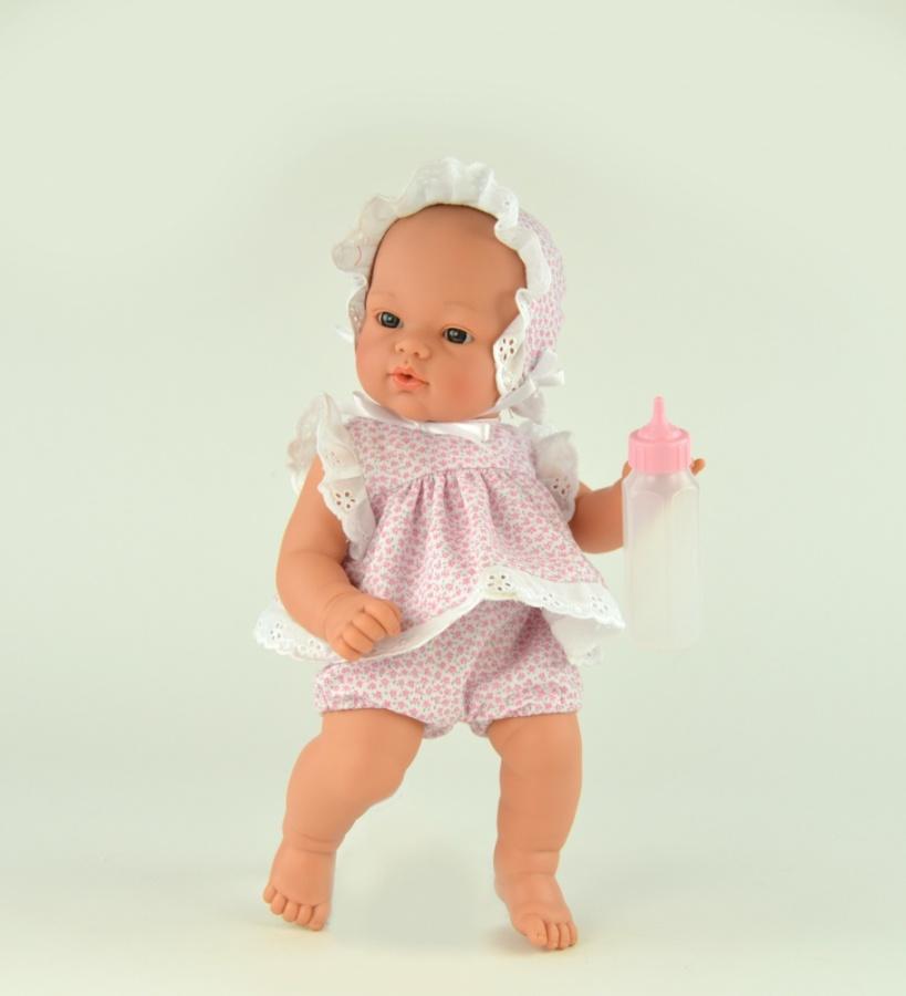 Кукла Коки с бутылочкой, 36 см.Куклы ASI (Испания)<br>Кукла Коки с бутылочкой, 36 см.<br>