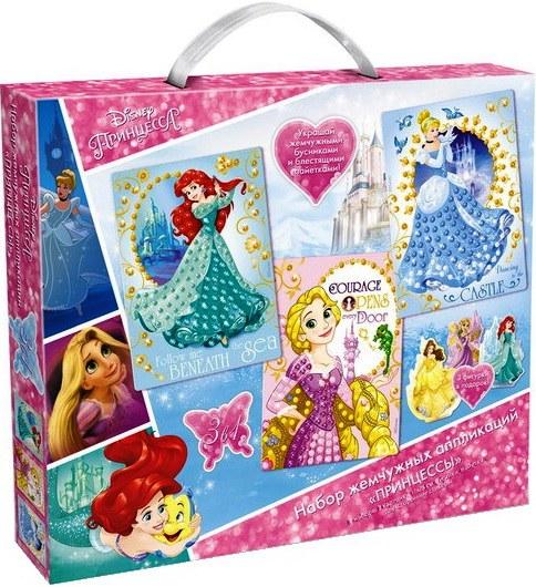 Набор жемчужных аппликаций Принцессы из серии Disney Princess™ 3 в 1Аппликация, пайетки<br>Набор жемчужных аппликаций Принцессы из серии Disney Princess™ 3 в 1<br>