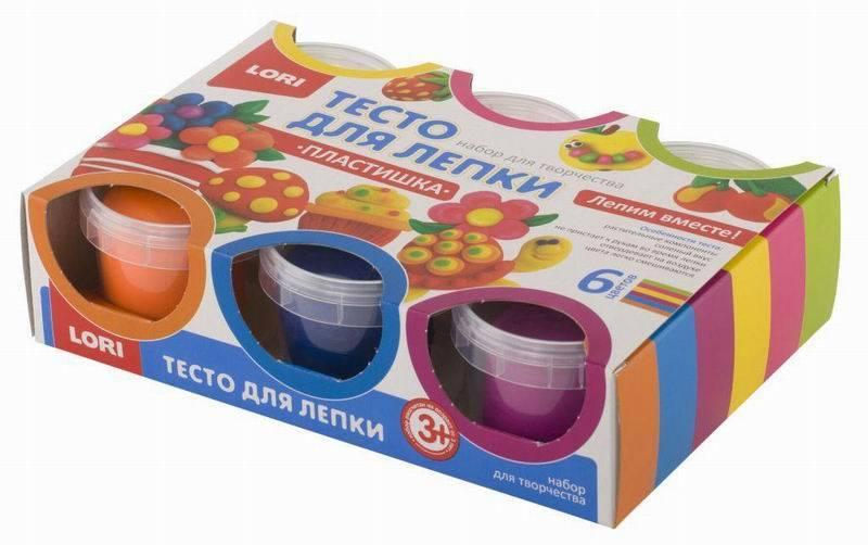 Тесто для лепки – набор № 10, 6 цветов ЛОРИ