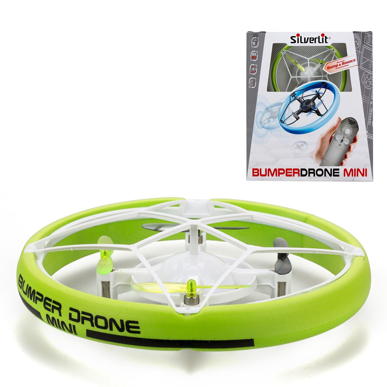 Радиоуправляемая игрушка - Мини Бампер Дрон, зеленый, свет