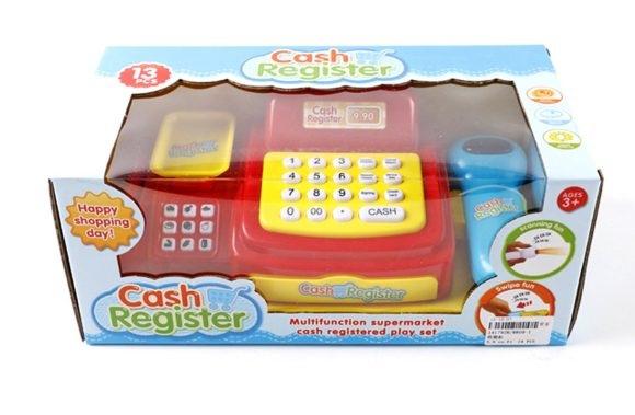 Кассовый аппарат со световыми и звуковыми эффектамиДетская игрушка Касса. Магазин. Супермаркет<br>Кассовый аппарат со световыми и звуковыми эффектами<br>