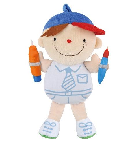 Мягкая кукла Вейн из серии Что носитьРазвивающие игрушки K-Magic от KS Kids<br>Мягкая кукла Вейн из серии Что носить<br>