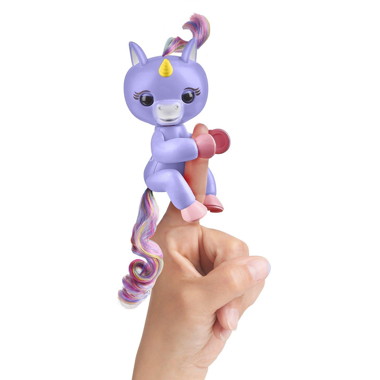 Купить Интерактивный единорог Fingerlings Алика, пурпурный, 12 см., WowWee